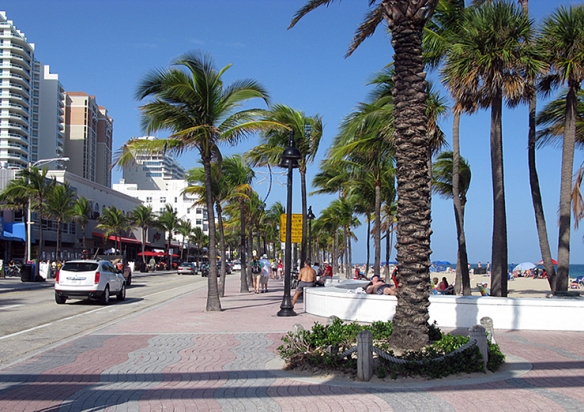 "A1A, this is ""the main drag"""